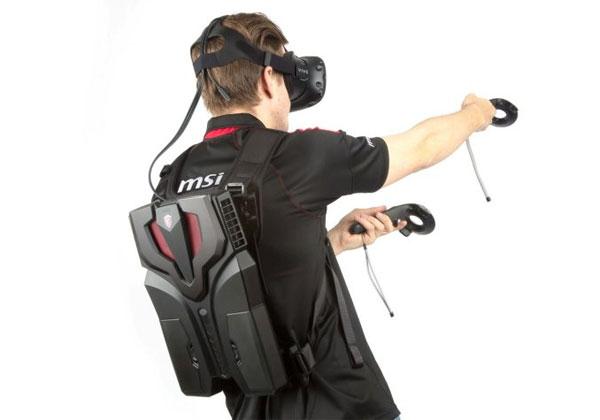 MSI VR One un PC dans sac à dos pour la réalité virtuelle