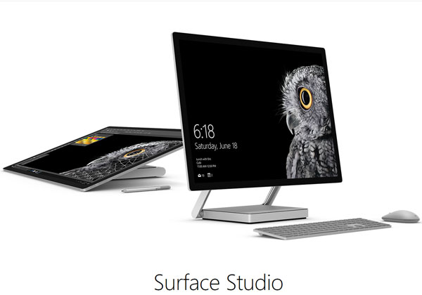 Microsoft Surface Studio et Surface Dial