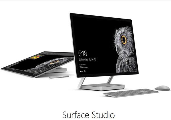 Microsoft Surface Studio et Surface Dial