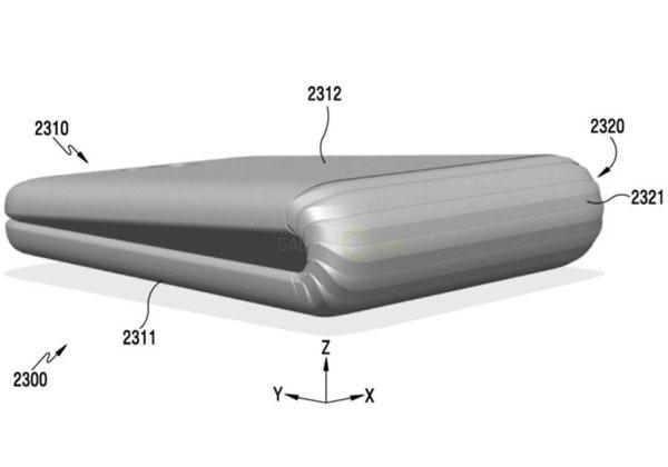 Samsung smartphone avec écran pliable en 2018