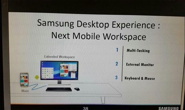 Galaxy S8 transformé en ordinateur