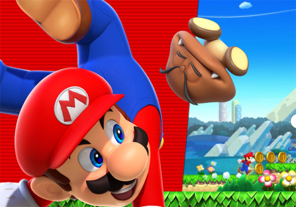 Super Mario Run sur smartphones Android