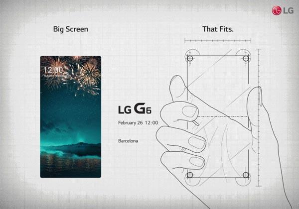 LG G6 au MWC 2017 avec un grand écran