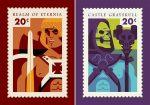 Icones Pop Culture sur timbre poste