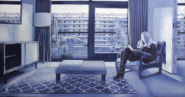 Des tableaux fait avec du jean Ian Berry