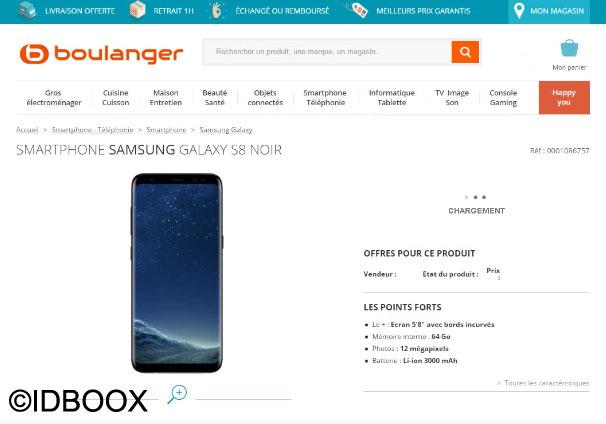 Le Galaxy S8 apparaît déjà chez Boulanger
