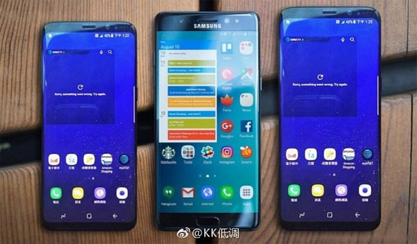 Galaxy S8 comparé au Note 7