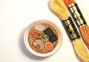 Japon miniatures en broderie
