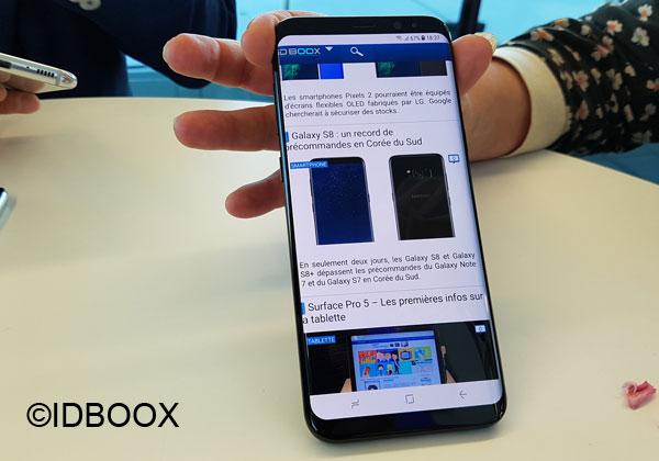 Galaxy S8 Samsung travaille sur écran recourbé quatre côtés