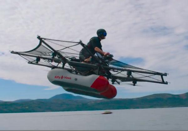 Larry Page a une moto volante