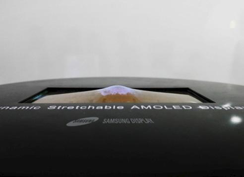 Samsung écran OLED étirable en vidéo