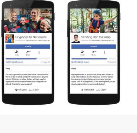 facebook foundraiser collecte de fonds