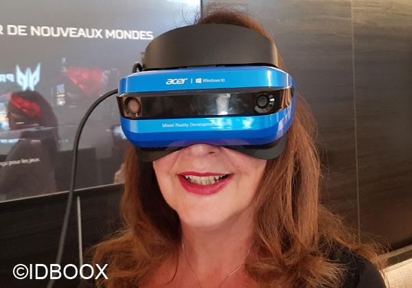 Acer prise en main du casque de réalité mixte