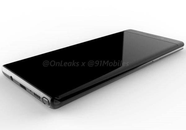 Galaxy Note 8 de nouveaux rendus 3D
