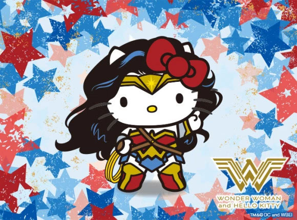 Wonder Woman et Hello Kitty