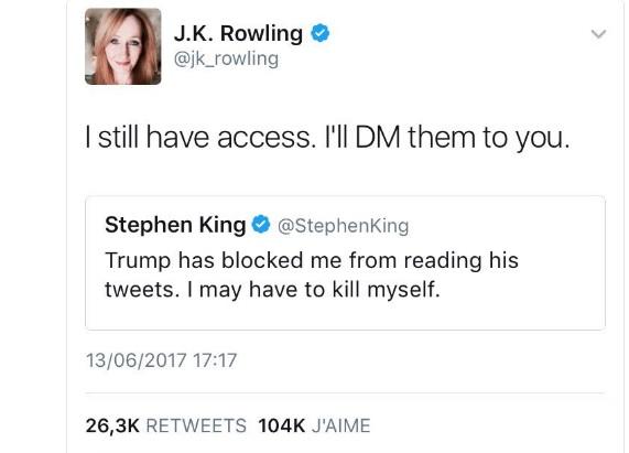 stephen king jk rowling trump twitter