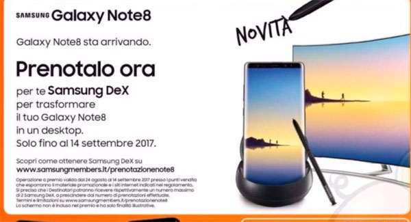 Galaxy Note 8 précommandes Europe