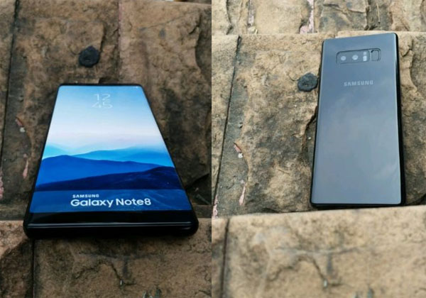 Galaxy Note 8 brochure et maquette