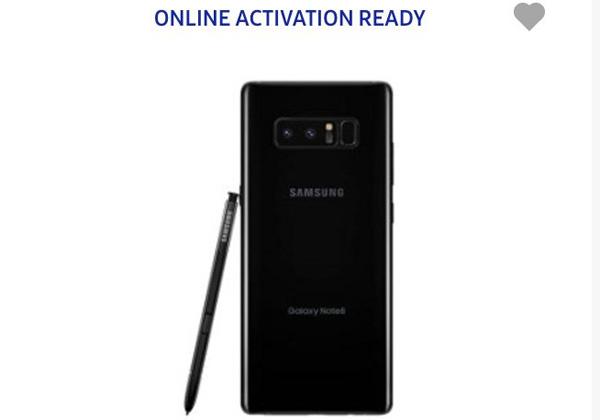 Galaxy Note 8 sur site Samsung