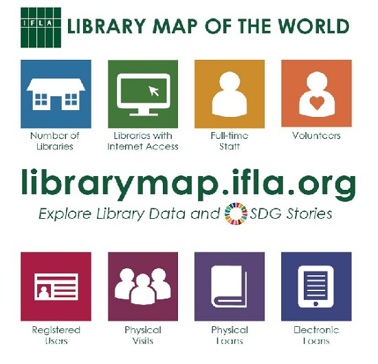 library map of the world biblioteque