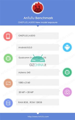 OnePlus 5T AnTuTu