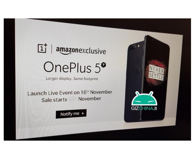 OnePlus 5T rendez vous 16 novembre