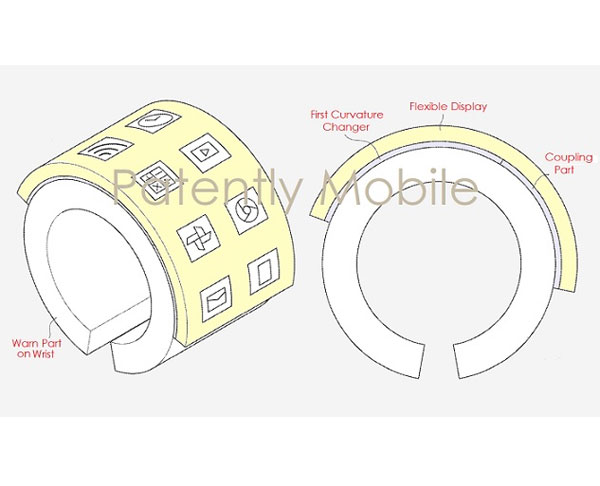 Samsung un bracelet avec un écran pliable