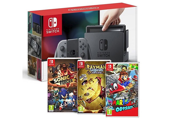 Bon Plan Nintendo Switch plus 3 jeux