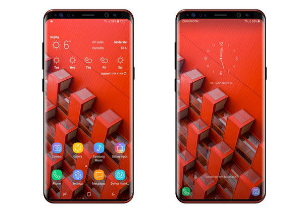 Galaxy S9 écran format 18,5:9 comme GS8