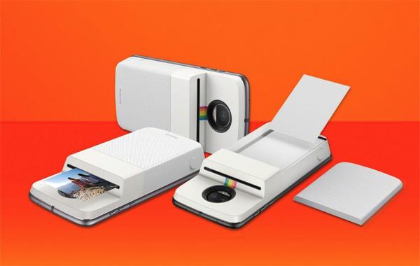 Moto Z avec une imprimante Polaroid
