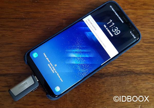 SanDisk test de la clé Dual Drive USB-C