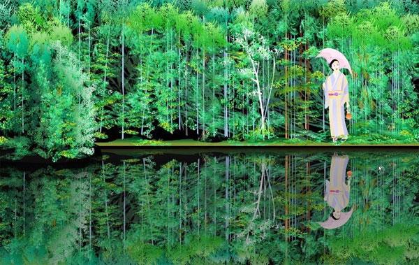 Japon peintures avec Microsoft Excel