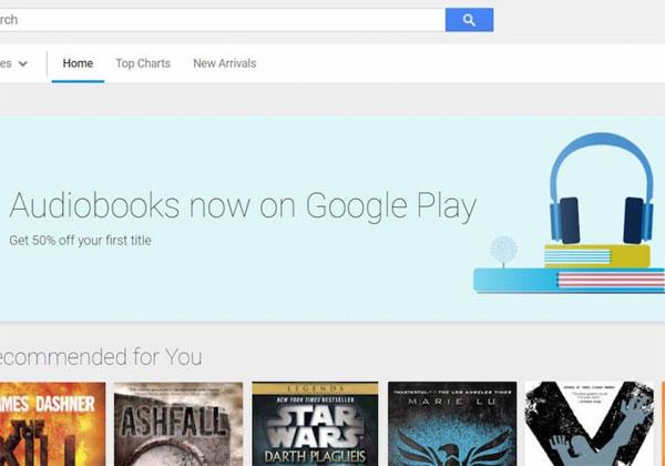 Google livres audio sur le Play store