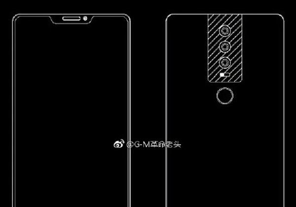Huawei P20 3 schémas et une rendu 3D