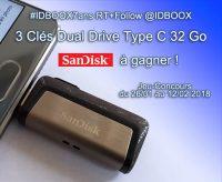 Jeu Concours Sandik 3 Clés Dual Drive Type C 32 Go