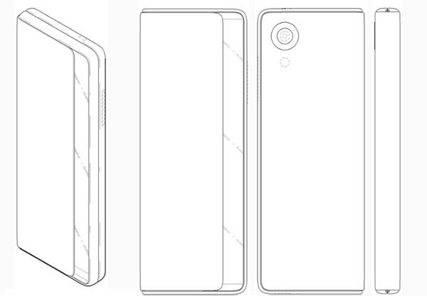 LG brevet smartphone écran flexible