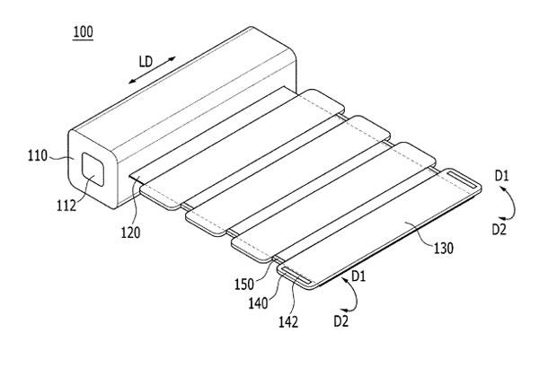 Samsung smartphone écran enroulable