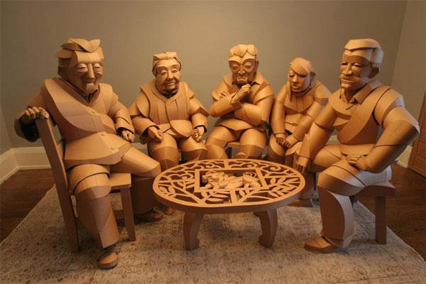 Sculptures en carton Warren King