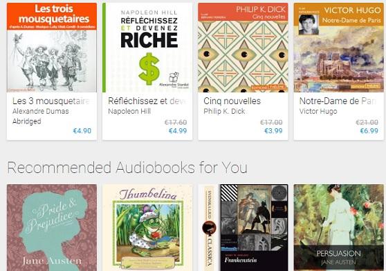 livres audio google
