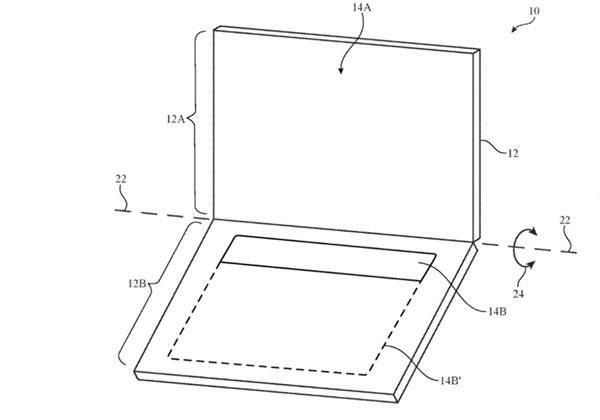 Apple brevet portable avec 2 écrans