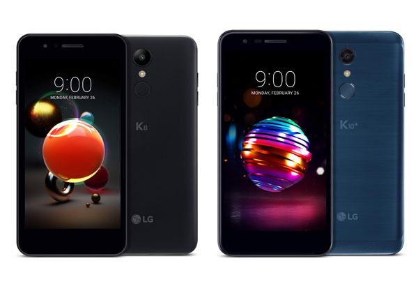 LG K10 et K8 officiels avant le MWC 2018