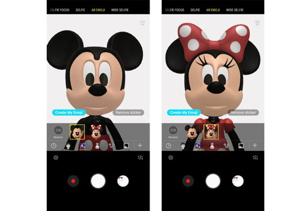 Galaxy S9 AR Emoji Disney