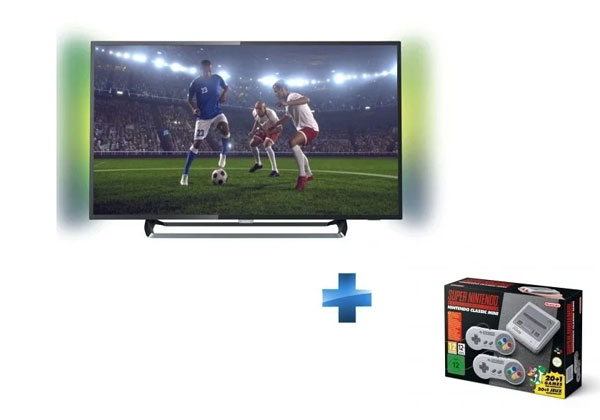 Bon Plan TV Philips 4K plus console Super Nintendo Mini