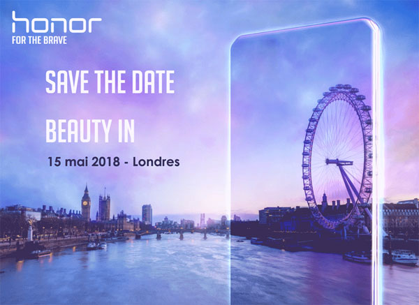 Honor 10 invitation 15 mai
