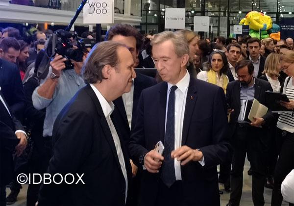LVMH Station F Bernard Arnault et Xavier Niel