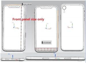 iPhone X 2018 schéma