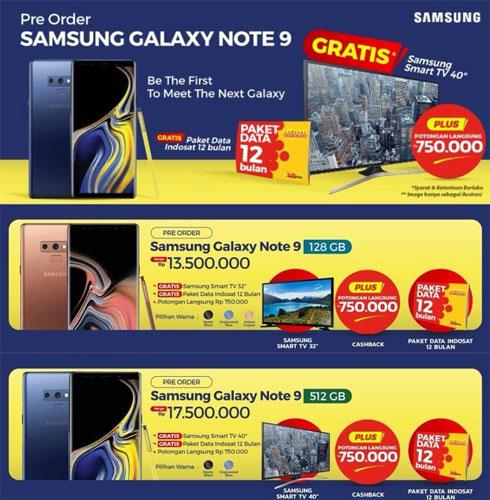 Galaxy Note 9 prix Indonésie