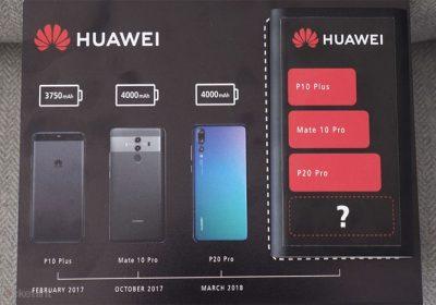 Huawei Mate 20 Pro un teaser sur la batterie