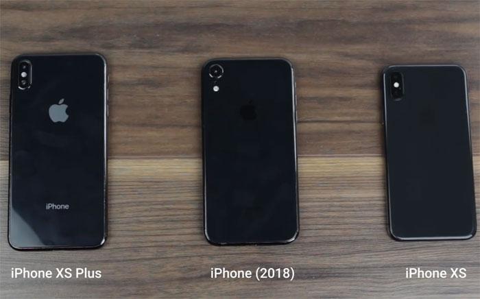 iPhone 2018 vidéo des trois smartphones