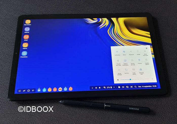 Galaxy Tab S4 mode DeX pour transformer tablette en PC